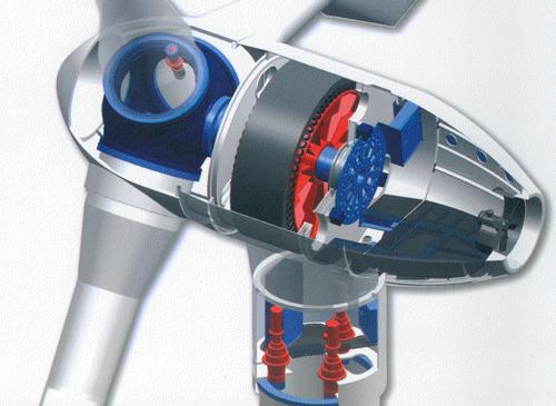 Figure 3.30 MTorres wind turbine design, source MTorres